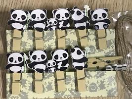 60pcs Lovely Panda Paper Wooden Clothespins,Pin Clothespins,Photo Hangin... - $11.50