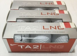 New (Lot of 3 Boxes) Total of (9 Balls) Nike TA2 LNG Tour Accuracy Golf ... - $28.47