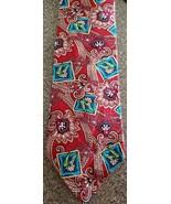"Tabasco Tie ~ Floral/Pepper Design Necktie ~ 3.75"" x 58"" Long ~ 100% Silk - $19.80"