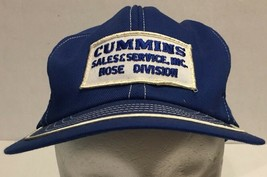 Vtg Cummins Snapback Trucker Hat Cap Swingster USA Blue Patch Hose Division - $21.49