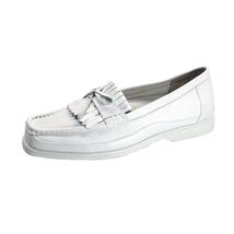 24 HOUR COMFORT Arlette Wide Width Moccasin Design Leather Loafers - $39.95