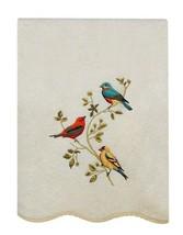 Avanti Premier Songbirds Bath Towel in Embroidered In Ivory Guest Bathroom - $43.54