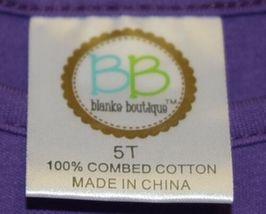 Blanks Boutique Long Sleeve Empire Waist Purple Ruffle Dress Size 5T image 6