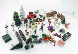 Dept 56 Accessories LOT Trees Ceramic Figurines Train Crossing Logs Fenc... - $249.98