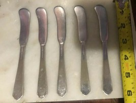 LOT OF 5 Marked Gorham EP 1923 S Butter Spreader - 5 3/4'' -Silverplate ... - $14.84