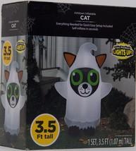 NEW! Airblown Inflatable Black Cat 3.5 Feet Tall Halloween Yard Decor Li... - $28.59