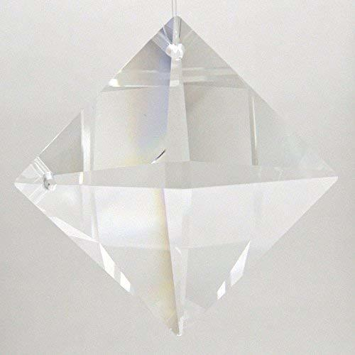 Swarovski Crystal 40mm Square Prism - 2 holes
