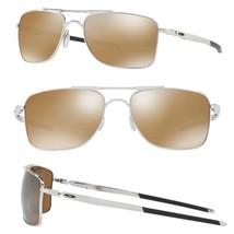 Oakley Guage 8 POLARIZED Sunglasses OO4124-05 Chrome Frame W/ Tungsten Iridium - $148.49