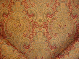 12-1/4Y CRAFTEX FRENCH ROMANESQUE FLORAL BROCADE DRAPERY UPHOLSTERY FABRIC - $242.55