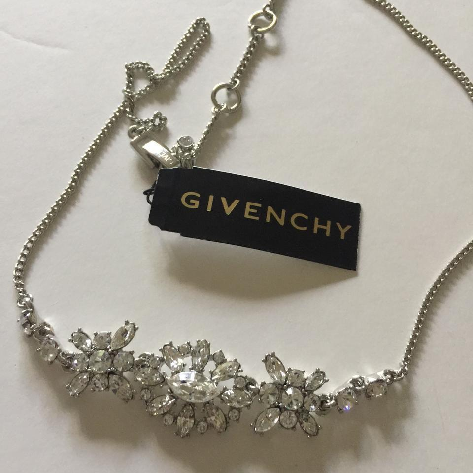 Givenchy Silver Tone Swarovski Element Crystals Necklace,NWT$78 image 2