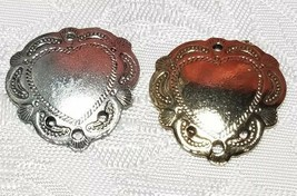 HEART SHIELD ONE TO THREE HOLE FINE PEWTER EARRING PART 20x20x3mm; Hole 1.5mm