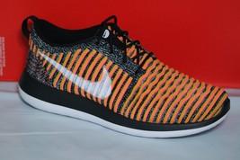 Nike Roshe Two Flyknit Women's Shoe, BLACK/WHITE/BRIGHT Mango, 844929 005 - $64.16