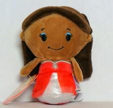 Hallmark Itty Bittys Holiday Barbie African American Doll Christmas Plush - $5.90