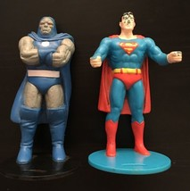 "Dc Super Heroes Darkseid & Superman 4.25"" Figure Cup Holder Burger King 1988 - $9.89"
