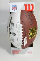 Wilson Official Size NFL Autograph Football NFC AFC 1 Brown / 3 White Panels - $29.99