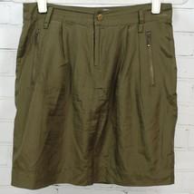 BANANA REPUBLIC Silk/Cotton Zipper Pocket Pencil Skirt - Army Olive Gree... - $19.31