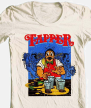 Tapper T-shirt retro arcade video game 80's 100% cotton graphic beige tee image 1