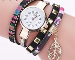 D women leaf fabric gold wrist watch for women bracelet vintage sport clock quartz thumb155 crop