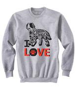 Saint bernard dog - I love b - NEW COTTON GREY SWEATSHIRT- ALL SIZES - $31.88