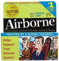 Airborne Lemon-Lime Size 10ct Airborne Lemon-Line 10ct - $12.22