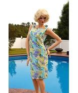 Silk Dress TALBOTS Size 8, Pure Silk Summer Dress Tropical Floral - $67.00
