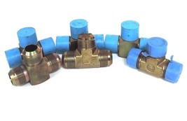 """LOT OF 6 NEW GENERIC 1-5/16"""" FLARED BRASS TEES image 1"""