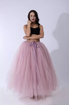 Adult Tutu Maxi Skirt Drawstring High Waist Party Tutu Tulle Skirt Petti... - $38.99