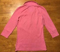 Abercrombie Girl's Pink 3/4 Sleeve Polo Shirt - Size: Large image 12