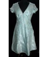 Marc Jacobs Womens Dress 6 Sea Foam Silver Metallic Brocade A-Line Tea C... - $40.24