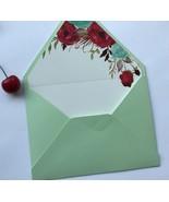 50pcs customized invitations cards envelopes,acrylic invitation cards en... - $32.00