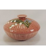 """Rare Antique Majolica Lily of The Valley 6 3/4"""" Round Covered Bowl & Lid... - $149.95"""