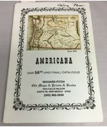Americana - Richard Fitch Old Maps & Prints & Books 56th (and final) Cat... - $5.87