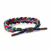 Rastaclat Magellan Vert Rouge Bleu Lacet de Chaussure Tressé Bracelet Neuf