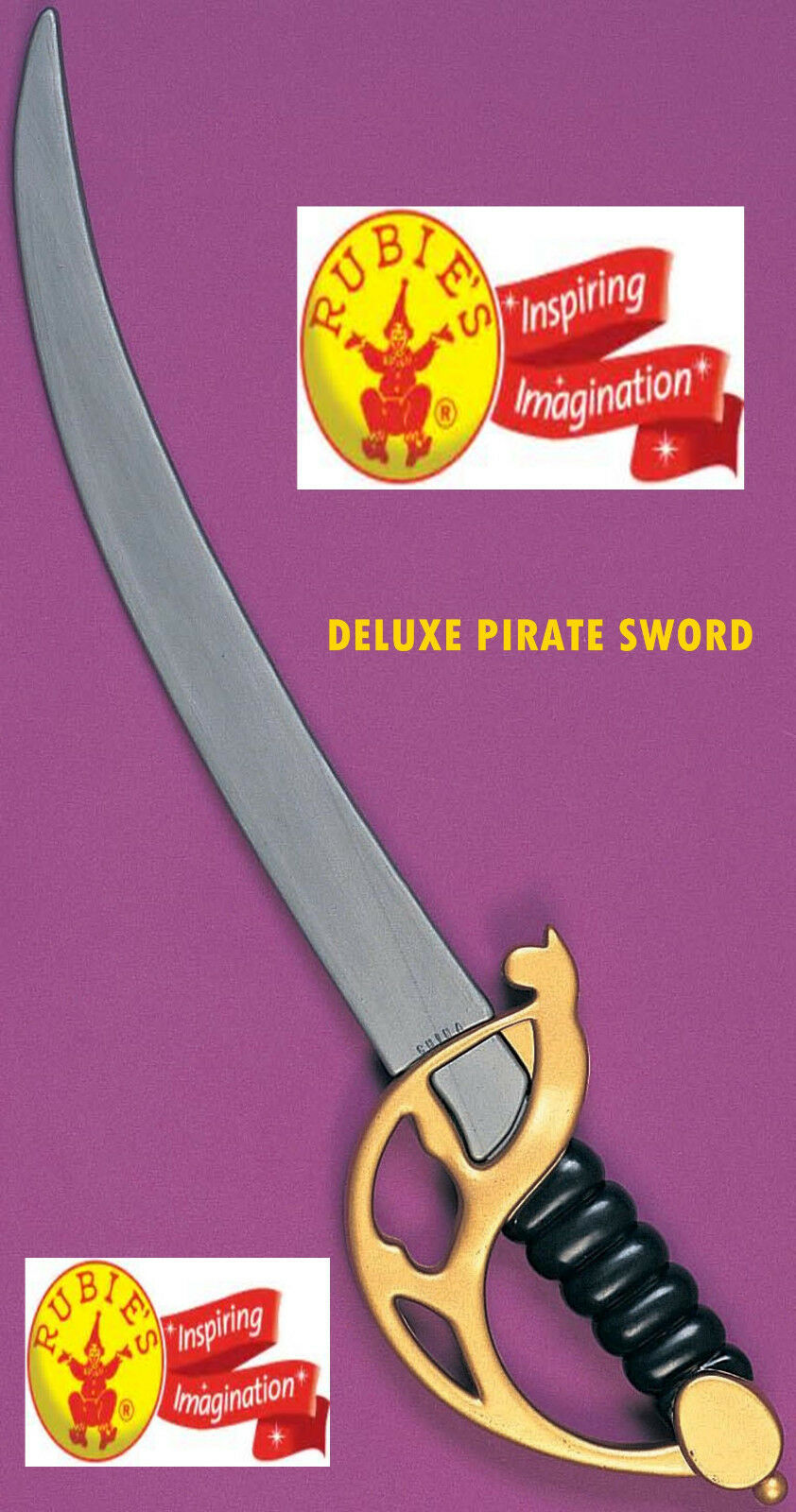 Cutlass Pirate Sword Buccaneer Cosplay 4 Kids Adults Plastic by Rubies - $10.39
