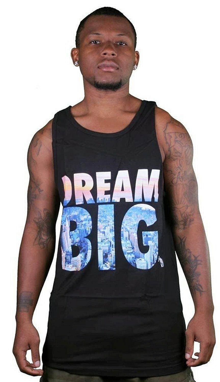 Yea Nice Homme Noir Dream Grand Logo Graphique Été Débardeur Muscle Chemise Nwt