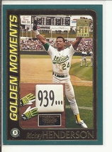(SC-5) 2001 Topps Baseball Card #787: Rickey Henderson - Golden Moments - $1.00