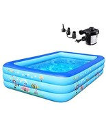 Family Inflatable Swimming Pool,Inflatable Kiddie Pool,Swim Center for A... - $98.00