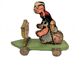 An item in the Toys & Hobbies category: 1936 Fisher Price #703 POPEYE Wooden Pull Toy