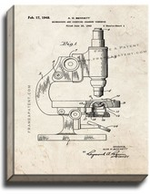 Microscope And Counting Chamber Therefor Patent Print Old Look on Canvas - $39.95+