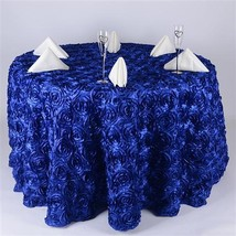 Royal Blue 132 Inch Rosette Tablecloths - $67.41