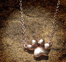 Haunted Pet Memorial spirit binding forever together paw print necklace  - $88.88