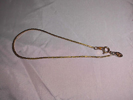 Vintage CITATION Signed Gold Tone Twist Dainty Bracelet - 7.5 inches - $5.94