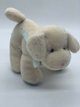 "Russ Baby Mini Puppy Dog 4"" Ivory Blue Stuffed Animal Squeaker Toy - $11.39"