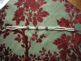 Vintage Judith Jack Double Strand Pearl Choker Sterling Silver & Marcasite Clips image 2