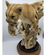 MillCreek Studios Journey Home Lion Randall Reading Authentic Wood/Marbl... - $277.15