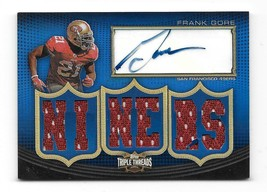 2010 Topps Triple Threads Frank Gore Autographed Trile Relic Card-#/18 - $99.00