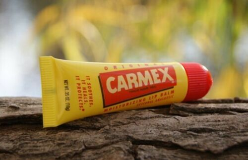 12x Carmex Classic Moisturizing Lip Balm Tube For Chapped Lips Original Bulk