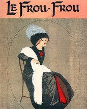 Le Frou Frou: Seated Girl With Striped Hat - 1911 - $12.95+