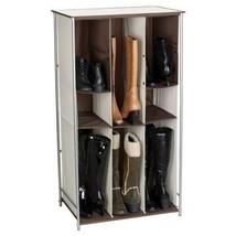 NEW 6 Pair Shoe Storage Rack Boots Rain Tall Organizer Shelf Adjustable ... - $59.30