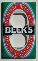 BECK's Beer Logo Light Switch GFI Outlet wall Cover Plate Home Decor image 2